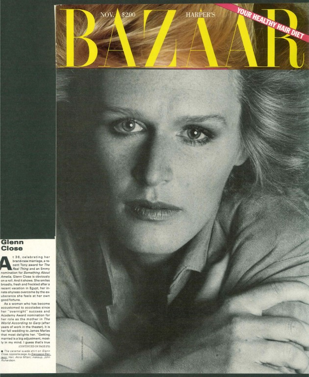Harper's Bazaar – Francesca Sterlacci Ltd – Glenn Close