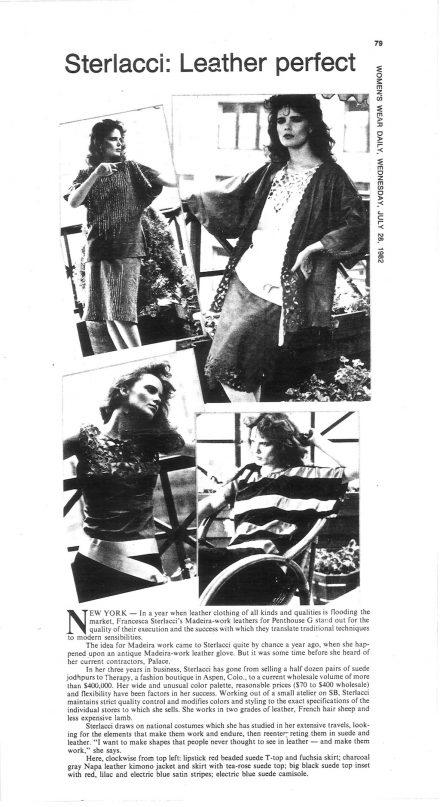 Women's Wear Daily – Leather Lace- Francesca Sterlacci Ltd