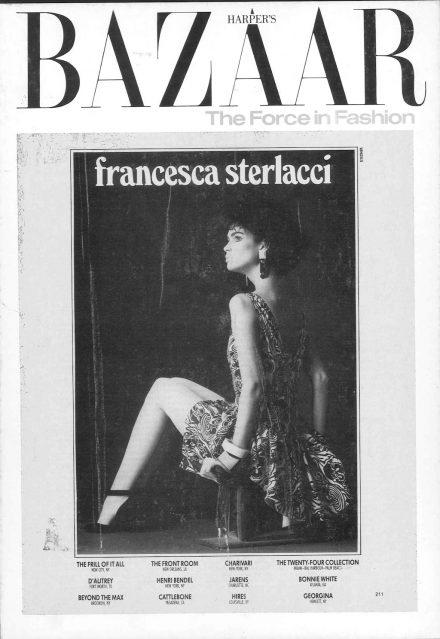 Harpers Bazaar – Francesca Sterlacci Ltd