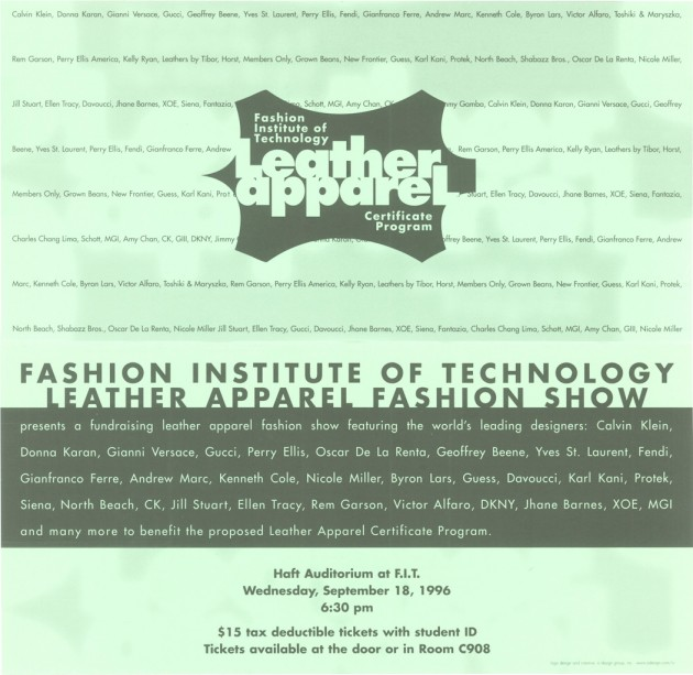 FIT – Leather Apparel Certificate Program – Fashion Show