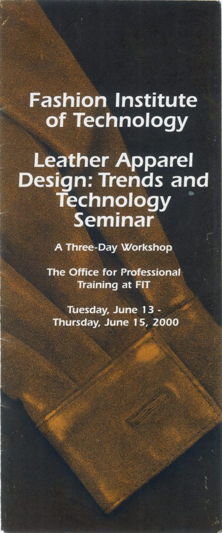 FIT – Leather Apparel Design, Trends, & Technology Seminar