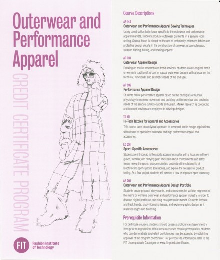 FIT – Outerwear & Performance Apparel Certificate Program