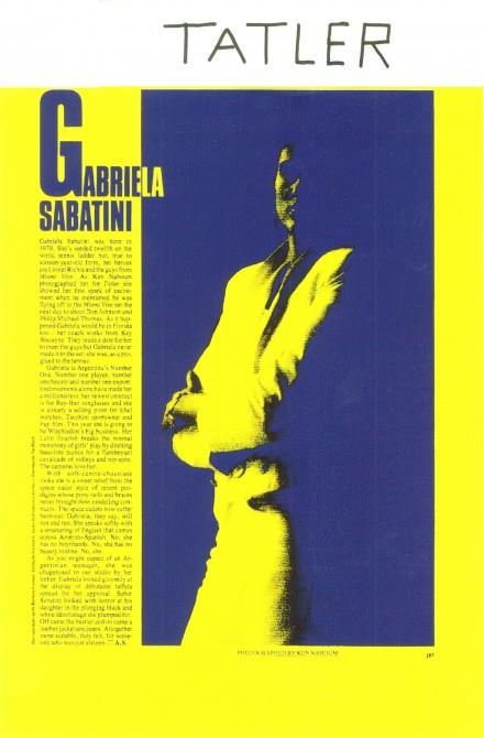 Tatler Magazine – Francesca Sterlacci Ltd – Gabriella Sabatini